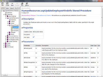 Stored Procedure Page
