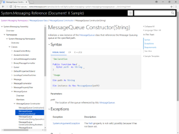 .NET Documentation, Constructor Overload Page