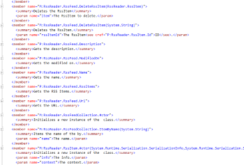 Xml Comment File Regeneration