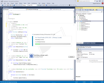 Build from Visual Studio