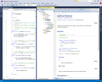 Visual Studio Comment Editor