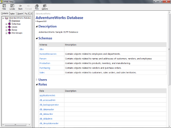 Database Overview Page