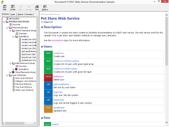 Web Service Overview Page